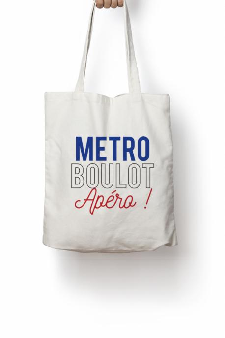 Tote bag Métro Boulot Apéro