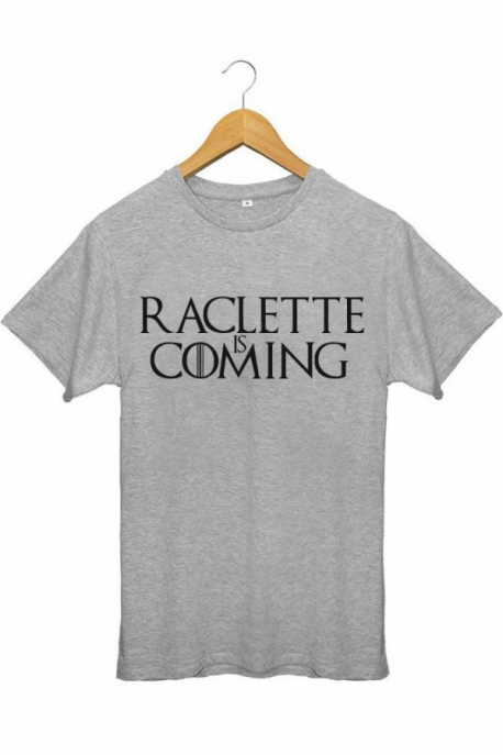 T-shirt Homme Raclette is coming - Gris