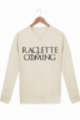 Sweat Homme Raclette is coming - Crème