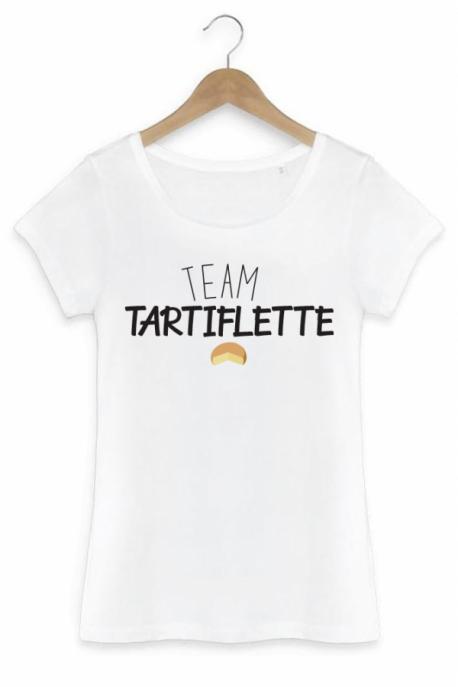 T-shirt Femme Team Tartiflette - Blanc