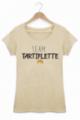 T-shirt Femme Team Tartiflette - Beige