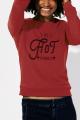Sweat rouge Femme Aussi hot qu'un Barbecue