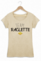 T-shirt Femme Team Raclette - Beige