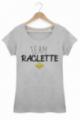 T-shirt Femme Team Raclette - Gris