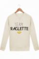 Sweat Homme Team Raclette - Crème