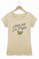 T-shirt Femme J'peux pas j'ai mojito - Beige