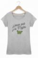 T-shirt Femme J'peux pas j'ai mojito - Gris