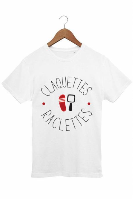 T-shirt raclettes claquettes Blanc 100% Bio