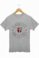 T-shirt raclettes claquettes Gris chiné 100% Bio