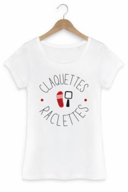 T-shirt Raclette Femme Claquettes - 100% bio