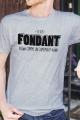 T-shirt gris chiné Homme Fondant comme un Camembert