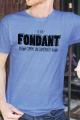 T-shirt bleu chiné Homme Fondant comme un Camembert