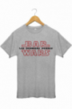 T-shirt Star Wars Bar Wars Les derniers verres Jedi gris chiné