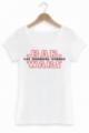 T-shirt Femme Les derniers jedi Star Wars Bar Coton bio Blanc