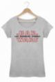 T-shirt Femme Les derniers jedi Star Wars Bar Coton bio gris chiné