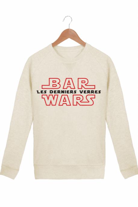 Sweat Guerre des bars Star Wars Coton bio Crème chiné