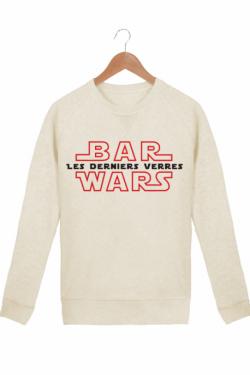 Sweat Femme Bar Wars - les derniers verres Coton bio crème chiné