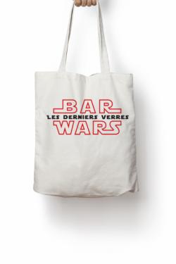 Totebag les derniers verres Bar Wars