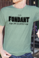T-shirt vert chiné Homme Fondant comme un Camembert