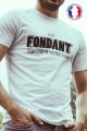 T-shirt blanc Made in France Homme Fondant comme un Camembert