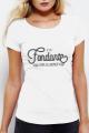 T-shirt blanc Femme Fondant comme un camembert