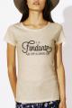T-shirt beige Femme Fondant comme un camembert