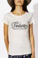 T-shirt crème chiné Femme Fondant comme un camembert