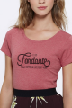 T-shirt framboise Femme Fondant comme un camembert
