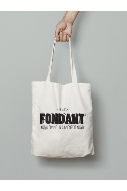 Tote bag Fondant comme un camembert Version homme