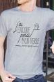 T-shirt gris chiné Homme J'ai perdu ma dignité