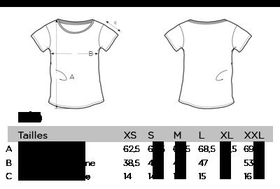Grille des Tailles T-shirts pour Femme